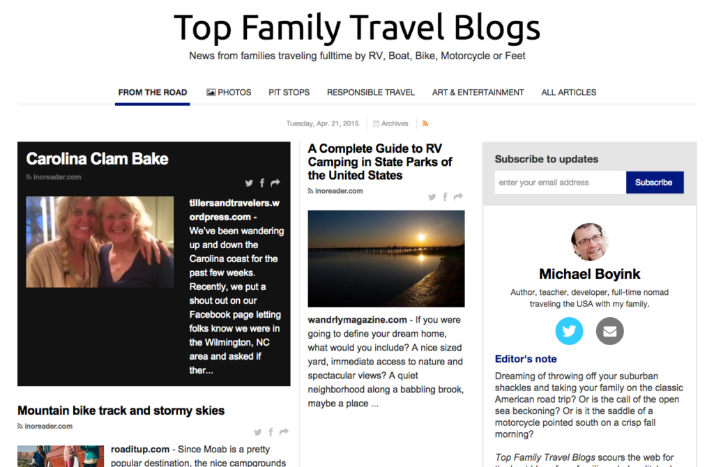 Top Family Travel Blogs