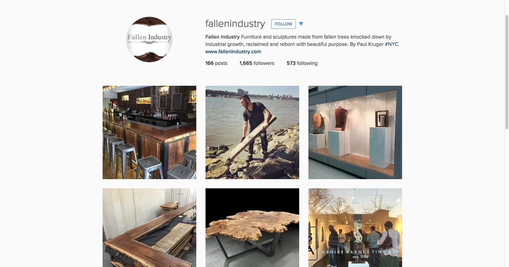 Fallen Industry Instagram