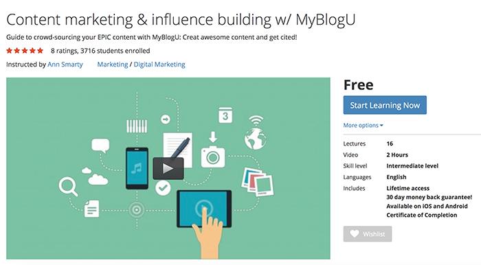 MyBlogU video course