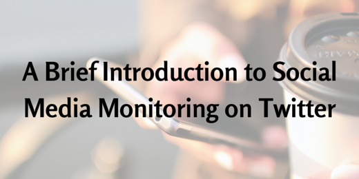 A Brief Introduction to Social Media Monitoring on Twitter