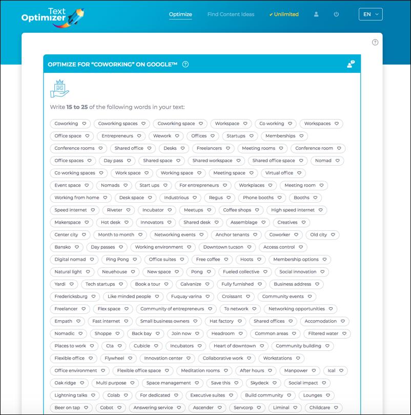 textoptimizer tool